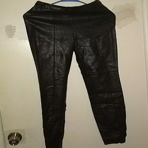 Faux leather Parisian slacks